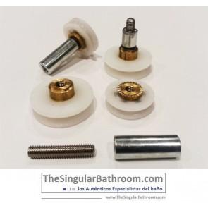 Rodamientos de mamparas, puertas de ducha, cabinas de ducha e hidromasajes, recambios y repuestos