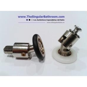 Recambio de mampara de ducha articulado con rodamiento de 20 milímetros
