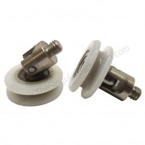 Rodamiento oscilante para mampara de ducha semicircular