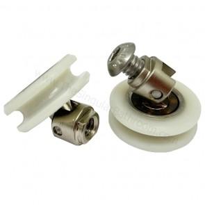 Rodamiento polea 24mm oscilante para mampara de ducha y baño
