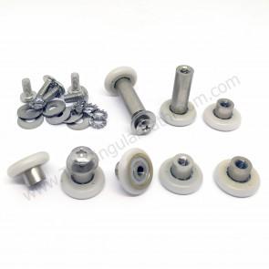 Kit rodamientos para mampara de ducha corredera 19mm
