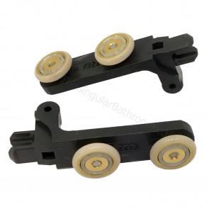 Recambio pieza doble rueda 18mm para puerta de ducha plegable