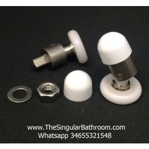 Rodamiento con articulación de puerta de ducha.