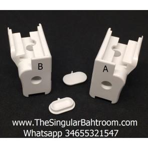 Piezas de plástico Megius,  para recambio mampara de perfilería