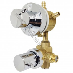 Grifo hidromasaje termostático con selector de 3 vías