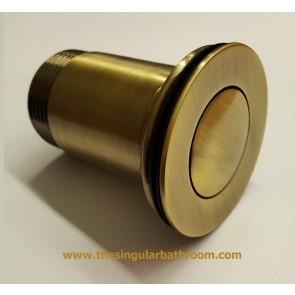 valvula lavabo / bide clic - clac bronce viejo