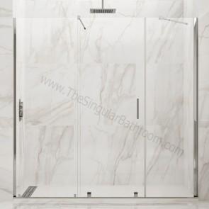Mampara de ducha frontal VITRO GME con puerta corredera central
